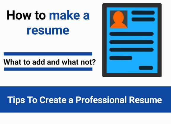How to make a resume for freshers