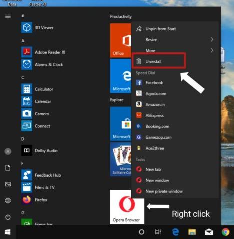 how to uninstall programs on windows 10