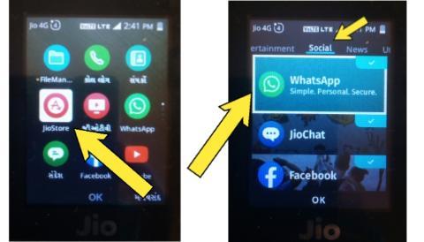 How to update WhatsApp in Jio phone