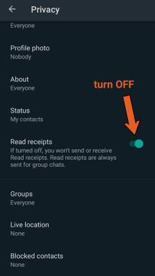WhatsApp read receipts feature