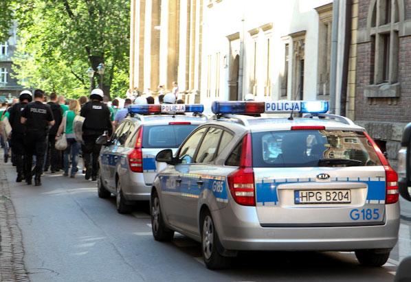 18 osób zatrzymanych po meczu Wisły Kraków ze Śląskiem Wrocław [ aktualizacja - zdjęcia ]