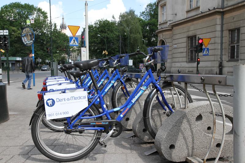 KMK Bike w 13 miejscach w Krakowie