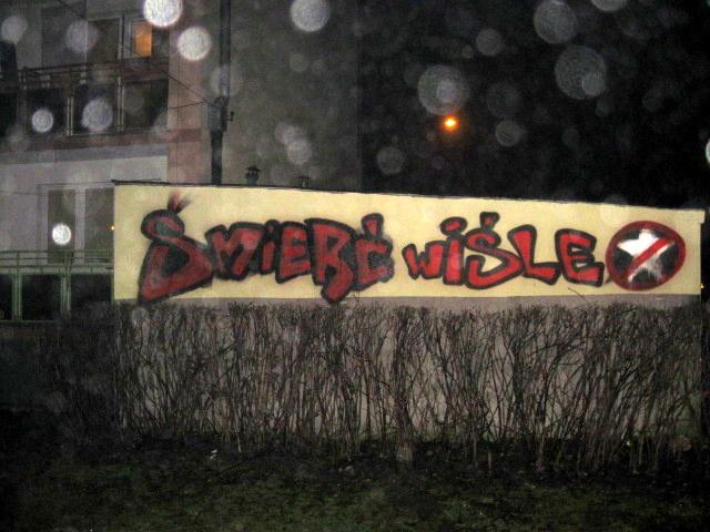 Strażnicy ujęli grafficiarza niszczącego budynki przy ulicy Siemaszki