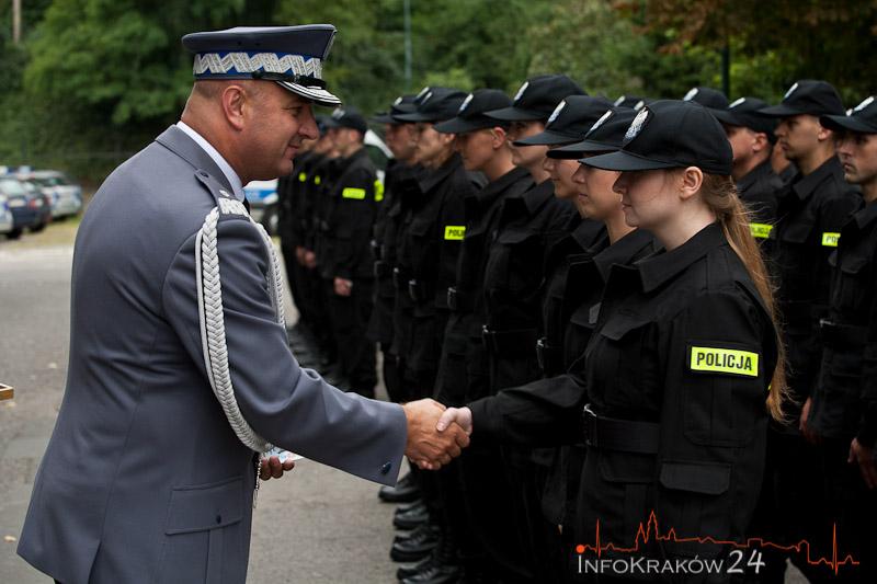 Ślubowanie Policjantów. Fot. Jan Graczyński / INFO Kraków24