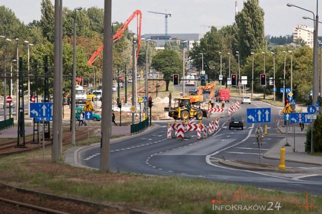 Remont Torowiska Al.Pokoju. Fot. Jan Graczyński / INFO Kraków24