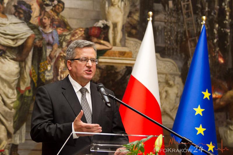 Bronisław Komorowski otworzył doroczne spotkanie Europejskiej Grupy Komisji Trójstronnej. Fot. Jan Graczyński / INFO Kraków24
