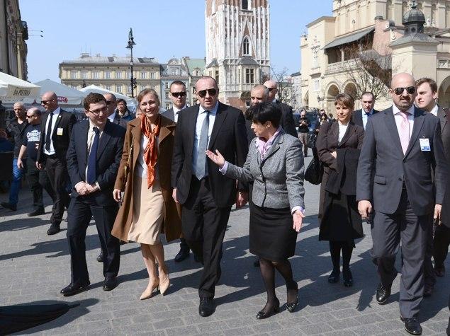 Wizyta prezydenta Gruzji Georgija Margwelaszwilego w Krakowie. Fot. bogusław Świerzowski / INFO Kraków24