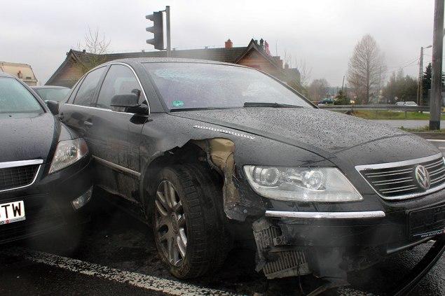 Policyjny pościg za VW Phaeton. Fot. Małopolska Policja