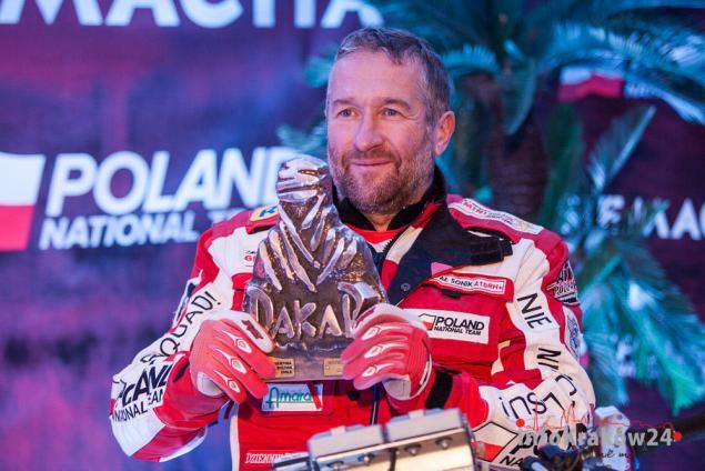 Rafał Sonik zwycięzca rajdu Dakar 2015. Fot. Jan Graczyński / INFO Kraków24