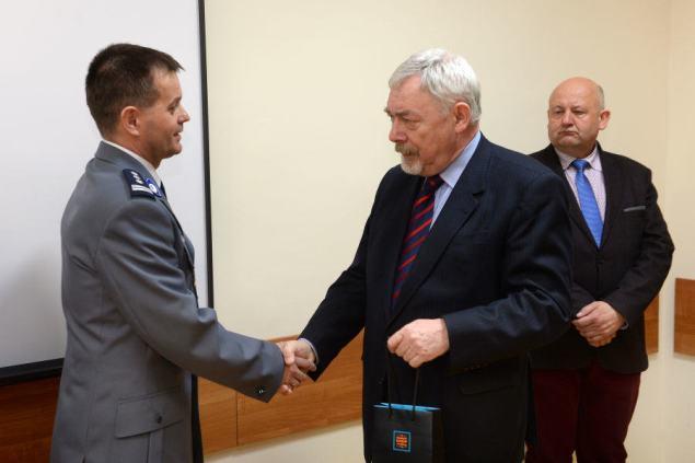 Inspektor Janusz Barcik nowym Komendantem Miejskim Policji. Fot . Wiesław Majka / UMK