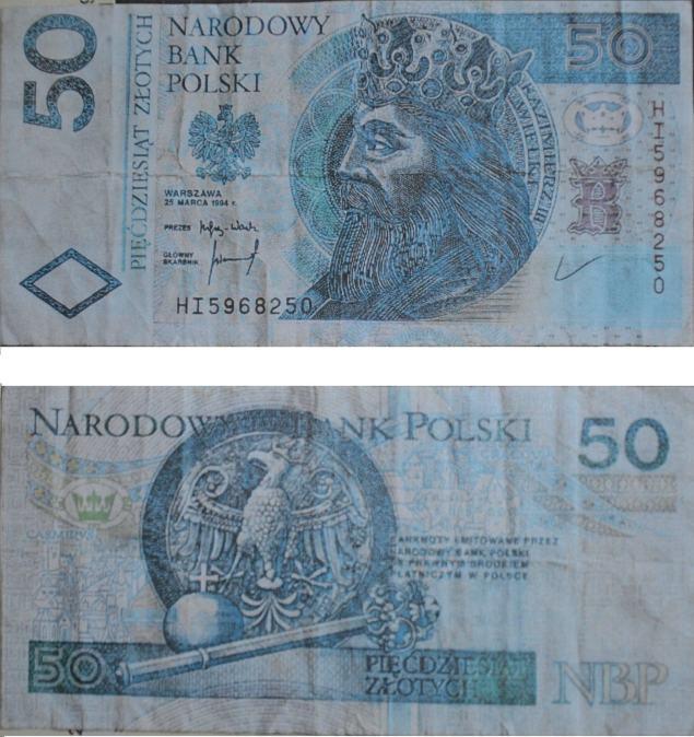 Podrabiane banknoty 50 złotowe. Fot. Policja Małopolska
