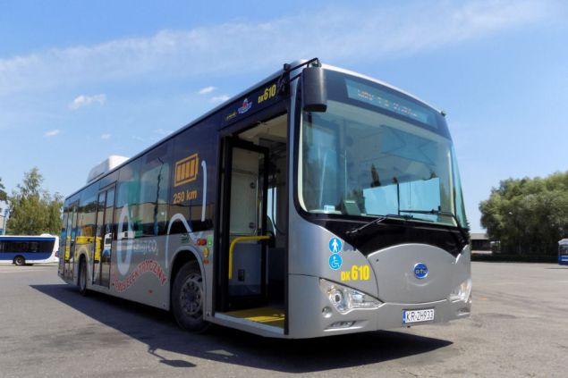 autobus Elektryczny BYD. Foto: MPK Kraków
