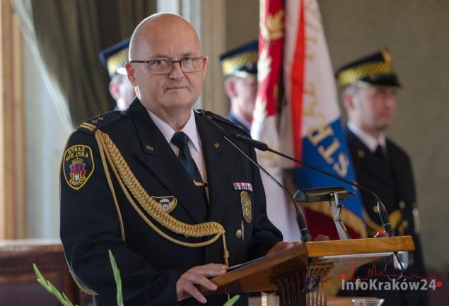 Adam Młot Komendant Krakowskiej Straży Miejskiej Fot.Bogusław Świerzowski / INFO Kraków24