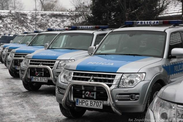 Nowe radiowozy dla Małopolskiej Policji. Fot. Policja