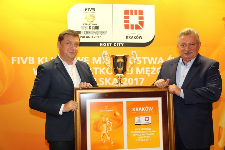 Kraków z oficjalnym logo klubowych MŚ w siatkówce