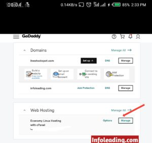 Manage godaddy web hosting on learn how to start a blog
