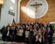 vera cruz Misa con los hermanos de la cofradía