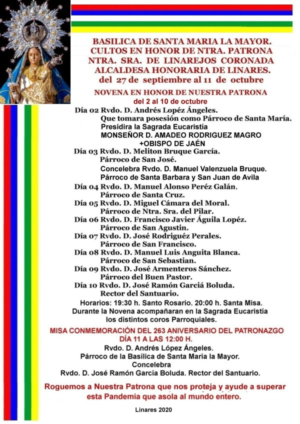 Novena de la Virgen de Linarejos 2020