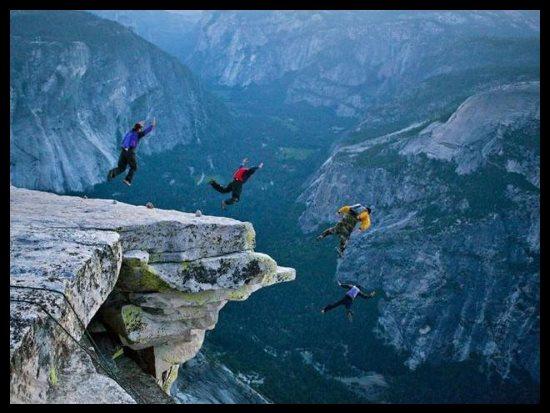 Faire du base jump à Yosemite, aux Etats-Unis