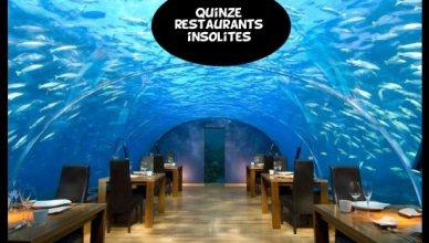 Top 15 des restaurants insolites