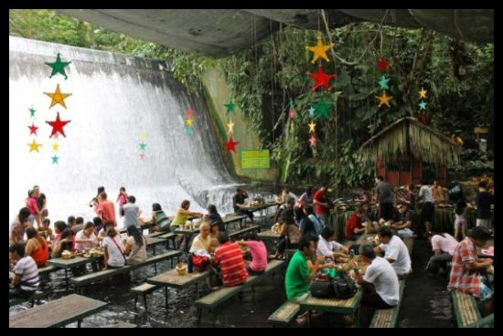 Waterfall Restaurant, San Pablo, Philippines