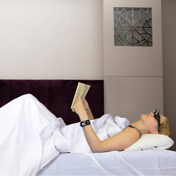 Lazy glasses allow you to read or watch TV while you're laid flat on your back.