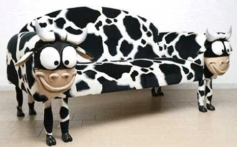 Canapé Vache..pour les amateurs de vacheries !