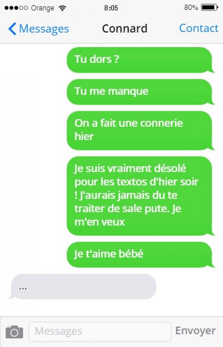 Il rompt par texto