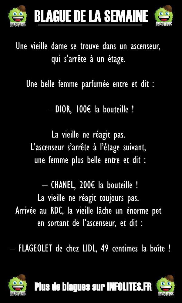 42 - BLAGUE DE LA SEMAINE - Dans l'ascenceur
