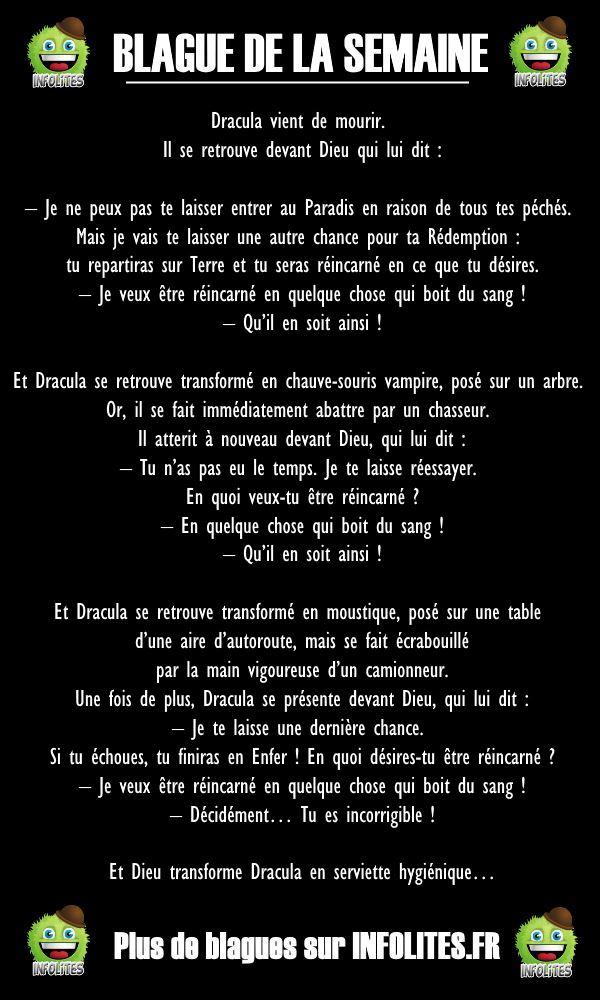 44 - BLAGUE DE LA SEMAINE - Dracula au Paradis