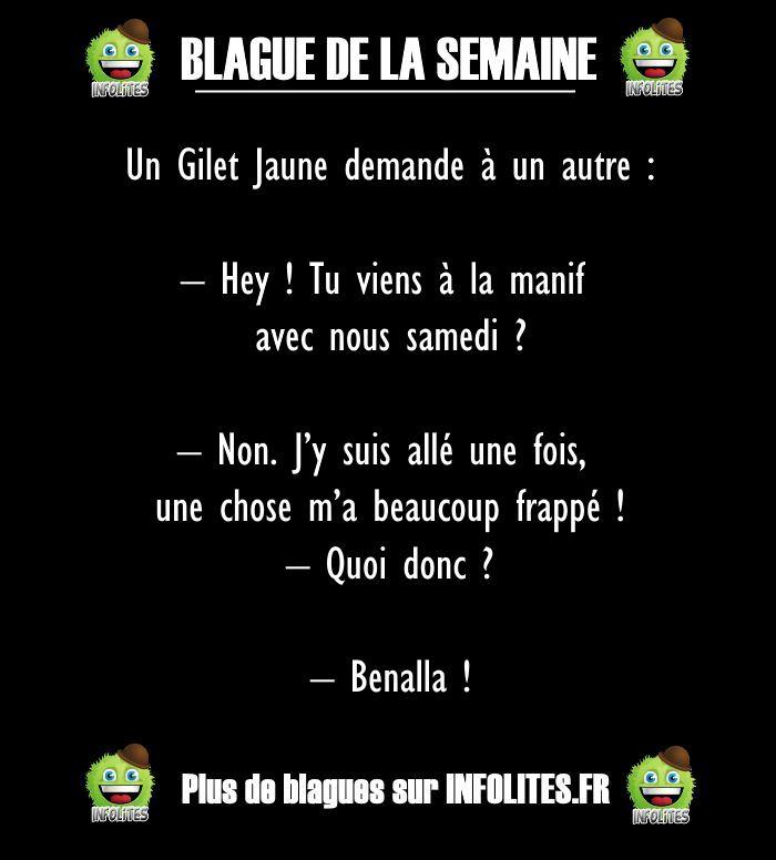 49 - BLAGUE DE LA SEMAINE - Gilets Jaunes