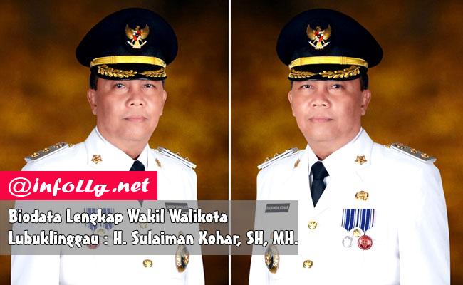 Biodata Lengkap Wakil Walikota Lubuklinggau H. Sulaiman Kohar, SH, MH.