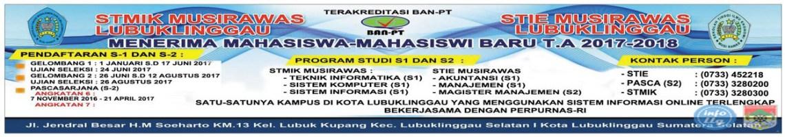 Banner Penerimaan Mahasiswa Baru STKIP PGRI Lubuklinggau 2017-2018