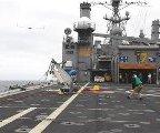 Scan Eagle przechodzi testy na USS Gunston Hall