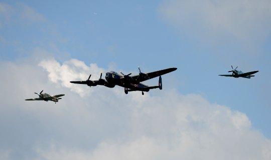 BBMF Spitfire Lancaster Hurricane Credit Pete Gardner