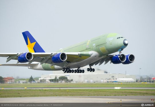 A380_Skymark_take_off_maiden_flight