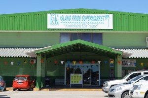 K&K Island Pride Supermarket in Delap, just next to the Capital Building. Photo: Karen Earnshaw