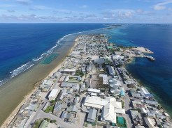 Ebeye looking South. Photo: Anjojo Kabua