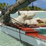 A copra canoe on Ailuk Atoll.