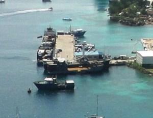 Uliga Dock is the domestic ship base. Photo: Cary Evarts