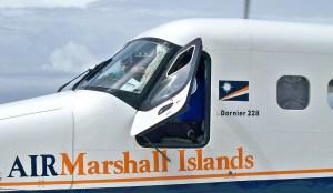 The Air Marshall Islands (AMI) Dornier on the tarmac at Majuro airport. Photo: Wikipedia