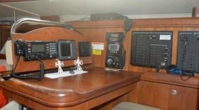 The comfortable nav station.
