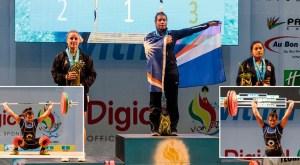 Mattie Sasser wins gold at the Pacific Games in Vanuatu. Photos: Peter Carroll, Van 2017 Media.
