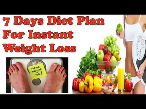 Diet Plan for Instant Weight loss in 7 Days