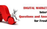 Digital Marketing Interview Question Answer for Fresher