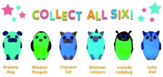 Collect All 6 Bright Time Buddies