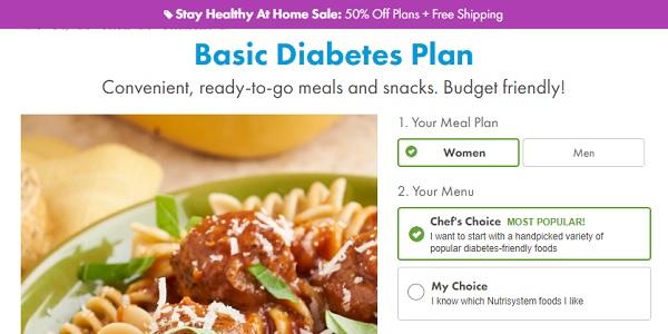 Diabetic Diet - Nutrisystem Diabetic Food Plan