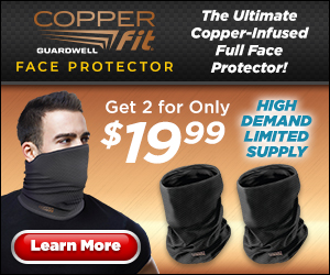 Copper Fit Neck Gaiter Face Covering