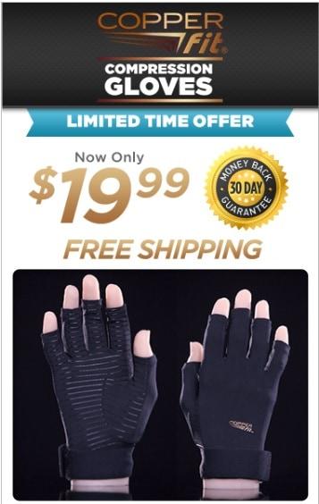 copper fit compression gloves offer