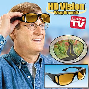 HD Night Vision Wraparound Sunglasses